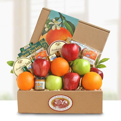 Fresh Fruit and Cheese Gift Box by The Gift Basket Gallery