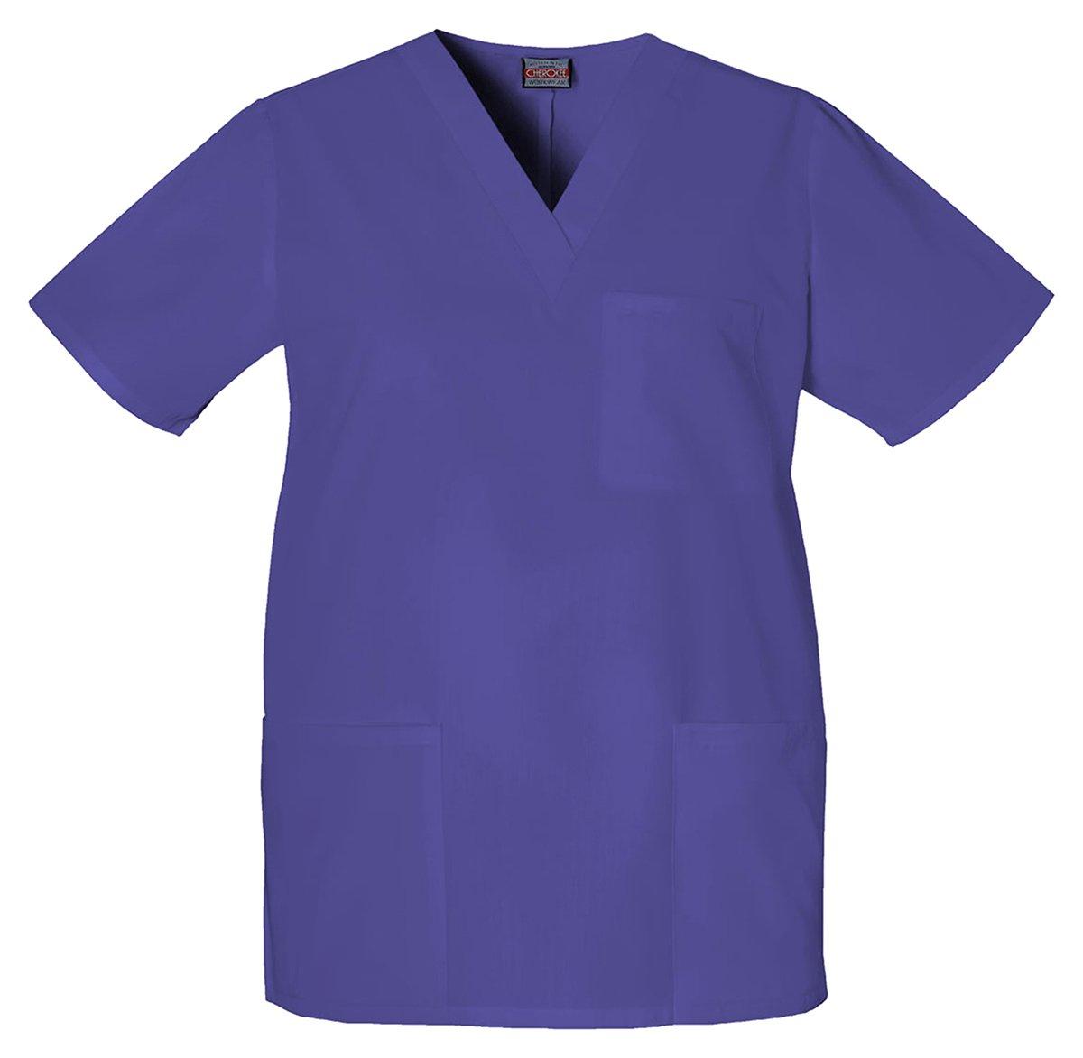 Cherokee Unisex Medical V-Neck Top_Grape_X-Large,4876