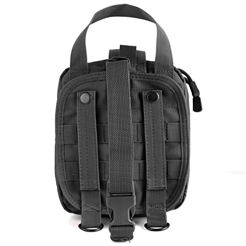 Tactical MOLLE Rip-Away EMT Medical First Aid Utility Pouch (BLACK)