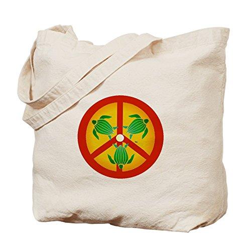 CafePress Tote Bag-Borsa con simbolo della pace, motivo: tartaruga