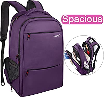 LAPACKER 15.6-17 inch Business Laptop Backpacks for Women Mens Water Resistant Laptop Travel Bag Lightweight College Students Notebook Computer Backpack - Purple by Tigernu leather co.,ltd