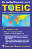 img - for TOEIC w/ Audio Cassettes (REA) - The Best Test Prep for the TOEIC (Test Preps) book / textbook / text book