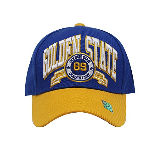 Unisex Team Color City Name Embroidered Baseball Cap Hat (Golden - Hat Basketball Embroidered