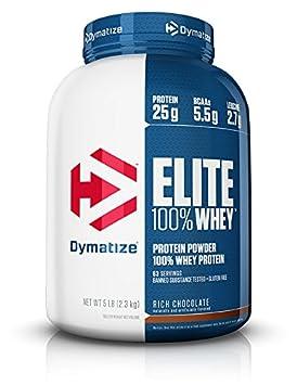Dymatize Elite 100 Whey Protein Powder, Rich Chocolate, 5 lbs
