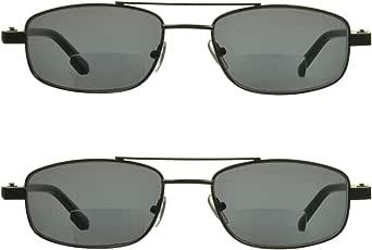 proSPORT Square Aviator Bifocal Sunglasses with HD Blue Light Blocking, Grey or Amber Lenses.