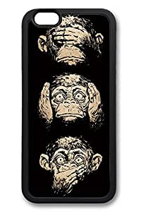 6 Plus Case, iPhone 6 Plus Case Three Wise Monkeys Wisdom Ideas TPU Silicone Gel Back Cover Skin Soft Bumper Case Cover for Apple iPhone 6 Plus by Maris's Diaryby Maris's Diary