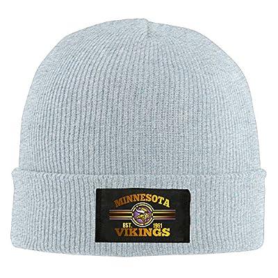 Amone Minnesota Viking Winter Knitting Wool Warm Hat Ash