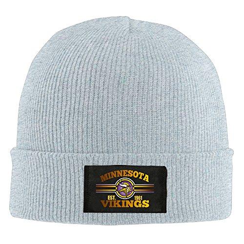 [Amone Minnesota Viking Winter Knitting Wool Warm Hat Ash] (Stefon Costume)