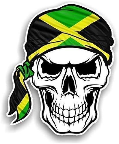 Skull With Face BANDANA /& Jamaica Jamaican Country Flag vinyl car sticker decal