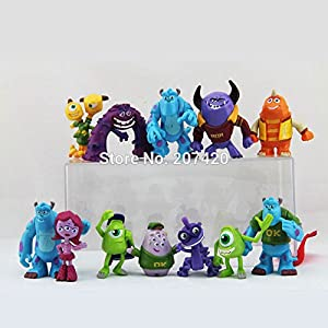 12pcs/Set 3-5 cm Monsters Inc. Monsters University Action Figure Toy Set