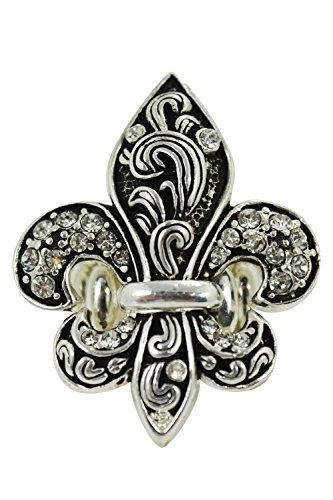 Fleur De Cameo Lis (Gothic Victorian Fleur De Lis Ornate Black Fashion Ring)