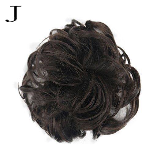 Willsa Women's Curly Messy Bun Hair Twirl Piece Scrunchie Wigs Extensions Hairdressing