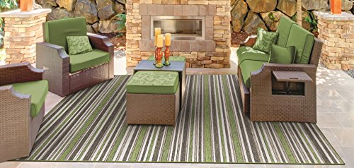 Couristan Cape Brockton Indoor/Outdoor Area Rug, 6'6