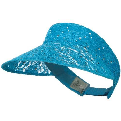 Lace Glitter Sun Visor - Turquoise - Lace Hat E4hats