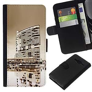 All Phone Most Case / Oferta Especial Cáscara Funda de cuero Monedero Cubierta de proteccion Caso / Wallet Case for Samsung Galaxy Core Prime // Black & White City