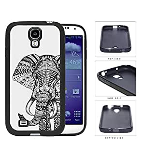 Elephant With Aztec Ethnic Design Rubber Silicone TPU Cell Phone Case Samsung Galaxy S4 SIV I9500