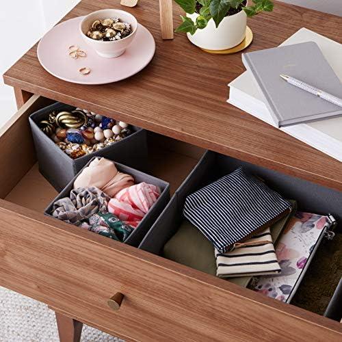 Amazon Basics Cloth Drawer Storage Organizer Boxes, Set of 6