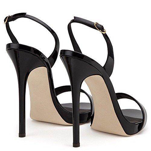 À Talons en l'eau Super TalonsQIAOQI De Imperméable À De Sandals MétalLarge Heels Platform Mariage Mariée Chaussures LIANGXIE Noir Mme High Hauts Taille Haute Twqn07T1