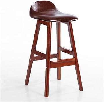 Cqq Chaises de bar Chaise en bois massif de style américain