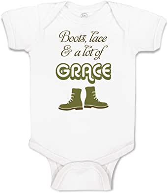 Custom Baby Bodysuit Boots Funny Humor