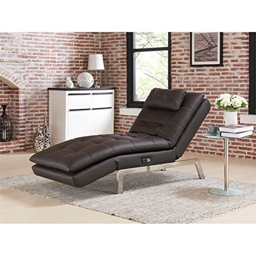 Relax-A-Lounger Titan Convertible Chaise in Brown