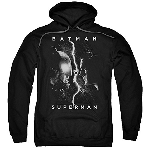 Trevco Men's Batman Vs. Superman Face Hoodie Sweatshirt at Gotham City Store