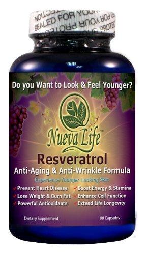 Resveratol - Meilleur Anti-Aging formule Supplément 90 capsules