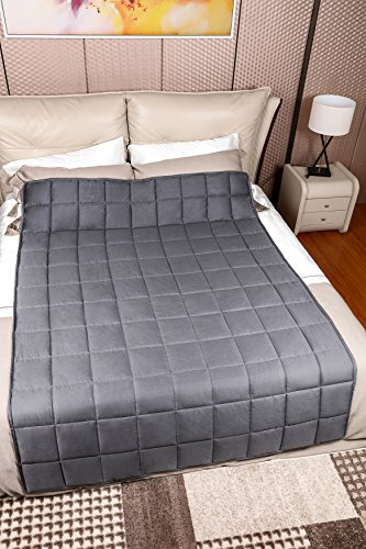 Weighted Blanket for Adults with Anxiety by Anjee Therapy, 15 lbs Autism Weighted Blanket for 100 - 150 lbs Persons, for Better Sleep and Stress Relief, Ideal Christmas Gift, (60 x 80 Inches, Grey) by Anjee (Image #4)