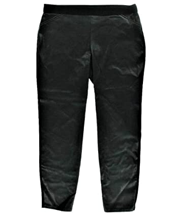 3578267d7a4 Image Unavailable. Image not available for. Color  Alfani Womens  79 Black Leather  Snakeskin Ultra Skinny Pants ...