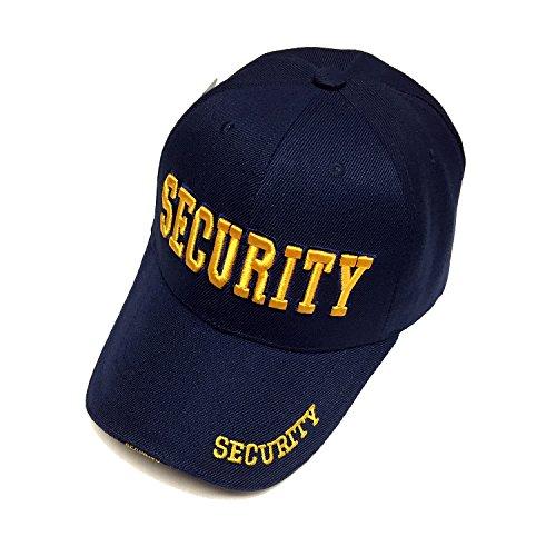 Security Hat Guard Uniform Cap Law Enforcement Navy/Gold 3D letter Officer Guard Baseball Cap
