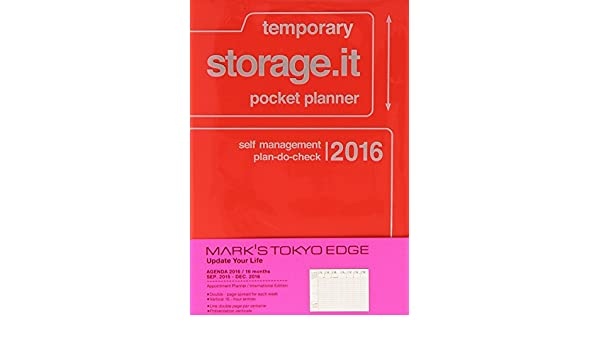 MARKS 2016 Taschenkalender A6 vertikal, Storage.it // Red ...