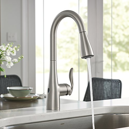 Moen 7594EWSRS Arbor Motionsense Wave Sensor Touchless One-Handle High Arc Pulldown Kitchen Faucet Featuring Reflex , Spot Resist Stainless