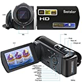 Camera Camcorder, Besteker 1080P Video Camera 20MP 16X Digital Zoom Handycam Camcorder with 3.0 TFT LCD Screen support HDMI Output