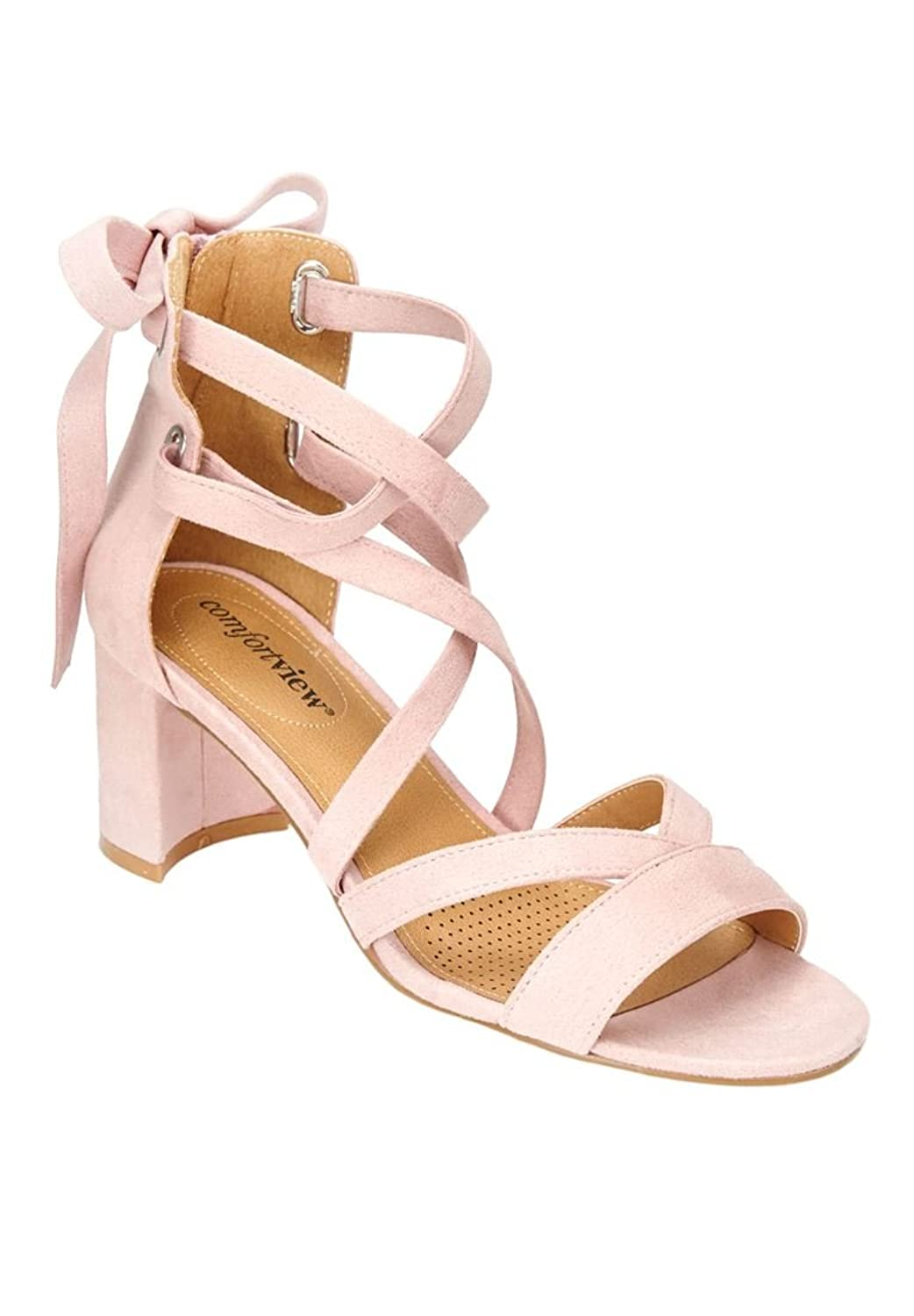 Women's Wide Rosana Sandals Rose Mist8 W