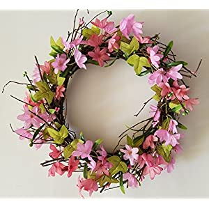 Homester Spring Cherry Blossom Buds Vine Door Wreath Candle Ring 39