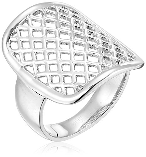 "Zina Sterling Silver ""Trellis Saddle Ring, Size 8 for sale  Delivered anywhere in USA"