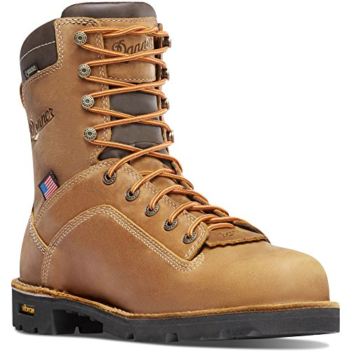 Danner Quarry USA 8 Distressed Brown 400G (17319) Vibram Sole Oil & Slip Resistant | Made In USA Waterproof Gore-TEX (GTX) | Modern Battlefield Combat Boot | Electrical Hazard Boot Leather Mnwjkq19