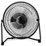 COMLIFE 9 Inch Battery Operated & USB Powered Metal Desk Fan, Table Desk Personal Fan Two Speeds Powerful Airflow, Whisper Quite Operation Home Office Camping