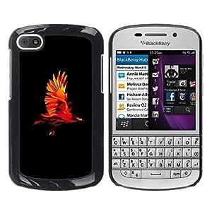 MOBMART Carcasa Funda Case Cover Armor Shell PARA BlackBerry Q10 - Colored Flying Eagle