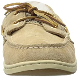 Sperry Womens Bluefish 2-Eye, Sand Suede/Gold-10