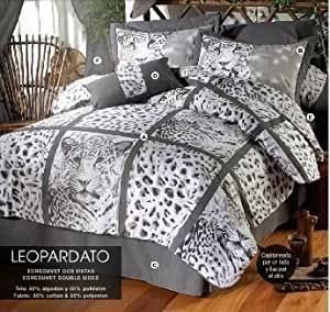 Limited edition 39 leopardato 39 complete double - Complete bedroom sets with curtains ...