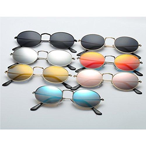 metal Peque oras vendimia Eyewear la cristales hembra ovales sol Horrenz del lente la sol clara as del marco Gafas retro Mujeres de Gafas las espejo de de de de 2 Tipo Gafas se gaqEOZ