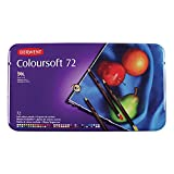 Derwent Colored Pencils, Colorsoft Pencils, Drawing, Art, Metal Tin, 72 Count (0701029)