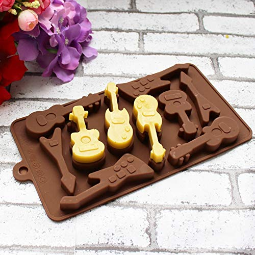 Amazon.com: Culturemart Silicone Mold 10 Even Guitar Shapes 3D Chocolate Mould Ice Cube Tray Mold DIY Baking Molds Pudding Mold Cake Decorating: Kitchen & ...