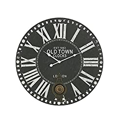 Deco 79 52548 Wood Metal Rd Wall Clock, 23