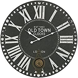 Deco 79 52548 Wood Metal Rd Wall Clock, 23""
