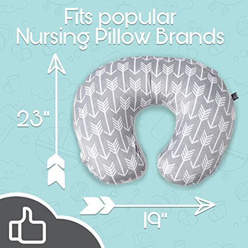 51BWPs7psFL - Minky Nursing Pillow Cover - Arrow Pattern Slipcover
