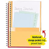 "Five Star Spiral Notebook, 5 Subject, College Ruled Paper, 180 Sheets, Small, 9-1/2"" x 6"", Yellow"