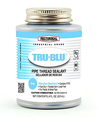 Rectorseal 31551 1/2 Pint Brush Top Tru-Blu Pipe Thread Sealant from The Rectorseal Corporation