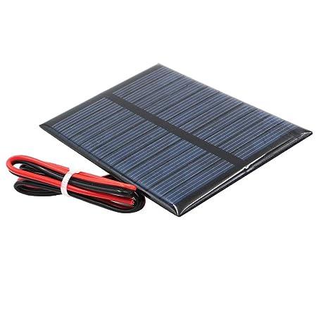 perfeclan Mini Panel Solar De Silicio Policristalino Diy Cargador de Batería - j 5.5v 80x55mm
